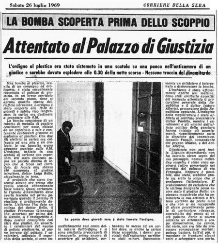 Attentato Palazzo di Giustizia 24.7.1969